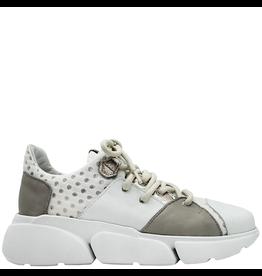Ixos Ixos White Taupe Metal Lace Up Sneaker 2002