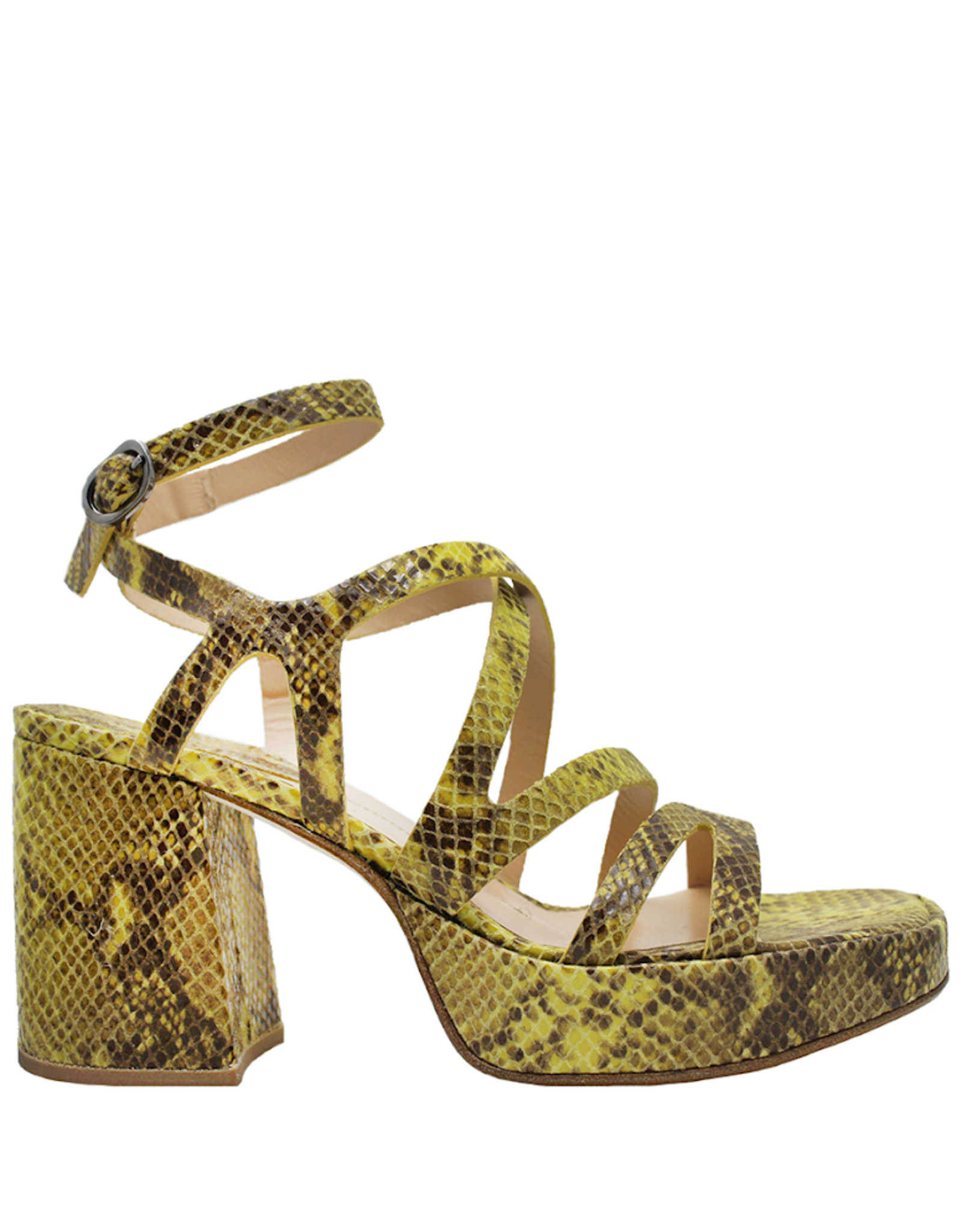 Ixos Ixos Lemon Embossed Platform With Buckled Closure 9001