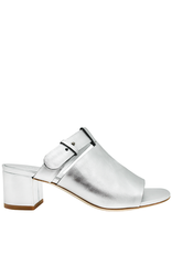 Del Carlo DelCarlo Silver Mule With Covered Heel 1098