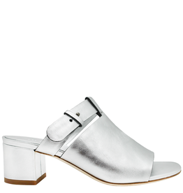 Del Carlo DelCarlo Silver Mule With Covered Heel 1098