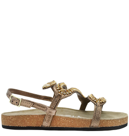 Strategia Strategia Bronze With Gold Crystal Snake Motif Cork Footbed 4547