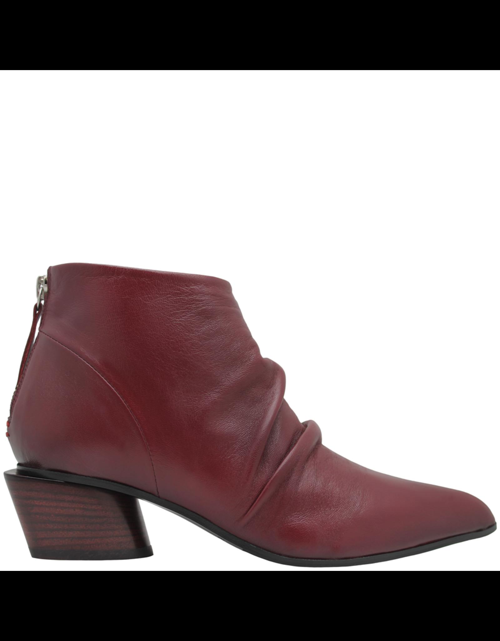 Halmanera Halmanera Wine Point Toe Ankle Boot With Back Zipper 2027