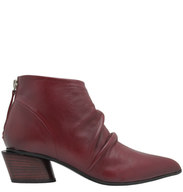 Halmanera Halmanera Wine Point Toe Ankle Boot With Back Zipper 2027