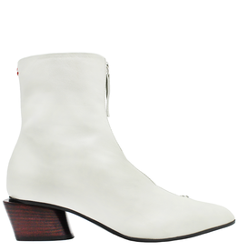 Halmanera Halmanera Ecru Point Toe Boot With Front Zipper 2028