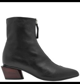 Halmanera Halmanera Black Point Toe Boot With Front Zipper 2028 Black
