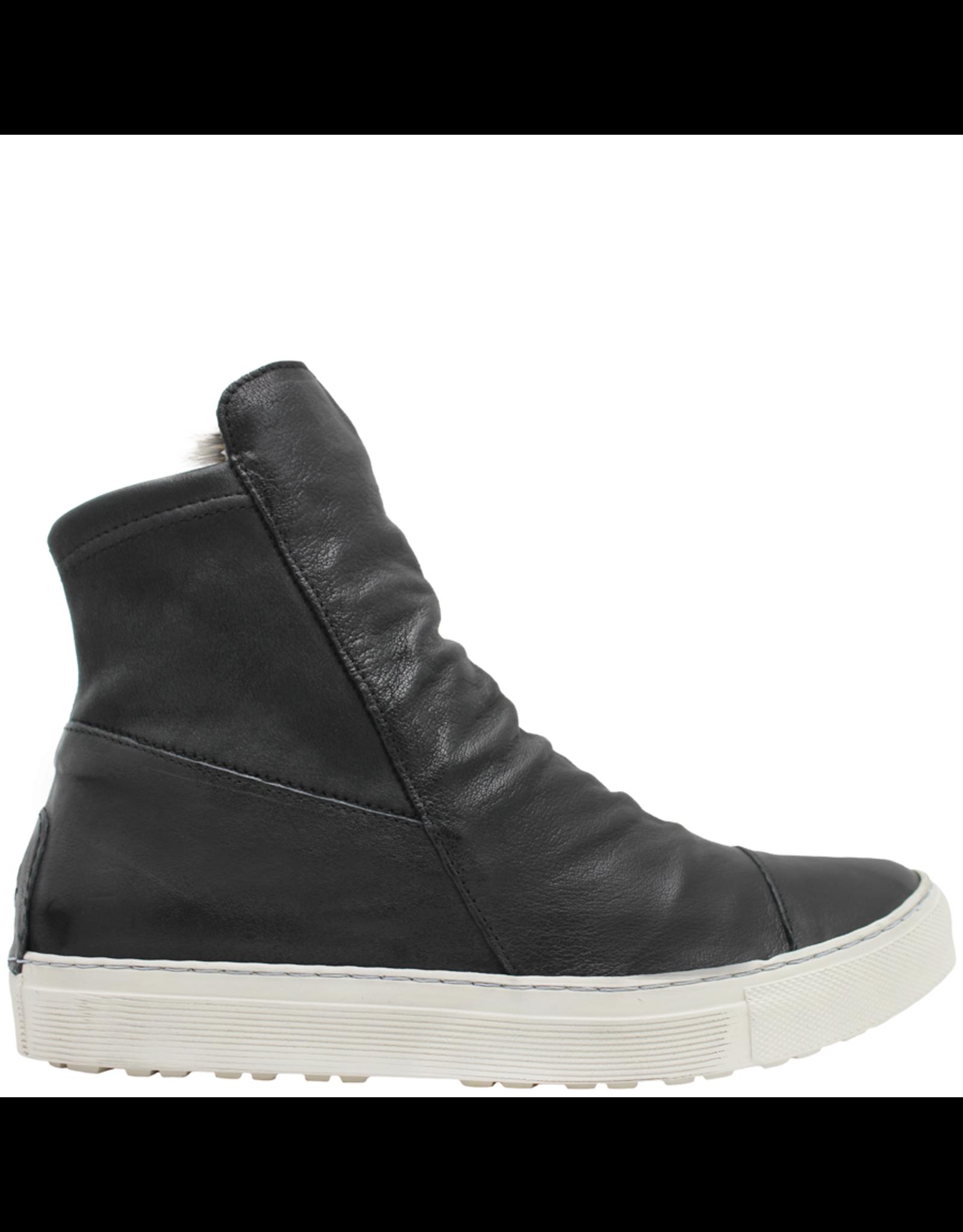 Fiorentini+Baker Fiorentini+Baker Black Sneaker W/ Fur Lining Side Zipper Bret-Fur