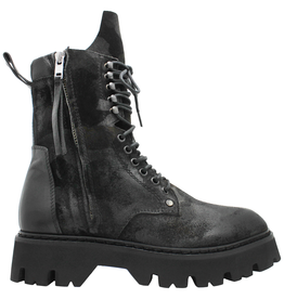 Now Now Camo 2 Zipper Lace-Up Boot Tread Sole 6529