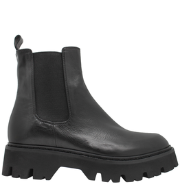 Now Now Black Chesea Hiking Boot With Tread Sole 6542