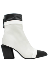 Halmanera Halmanera Black/ White /Ecru Boot With Back Zpper 2029