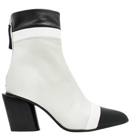Halmanera Halmanera Black/ White /Ecru Boot With Back Zpper 2029