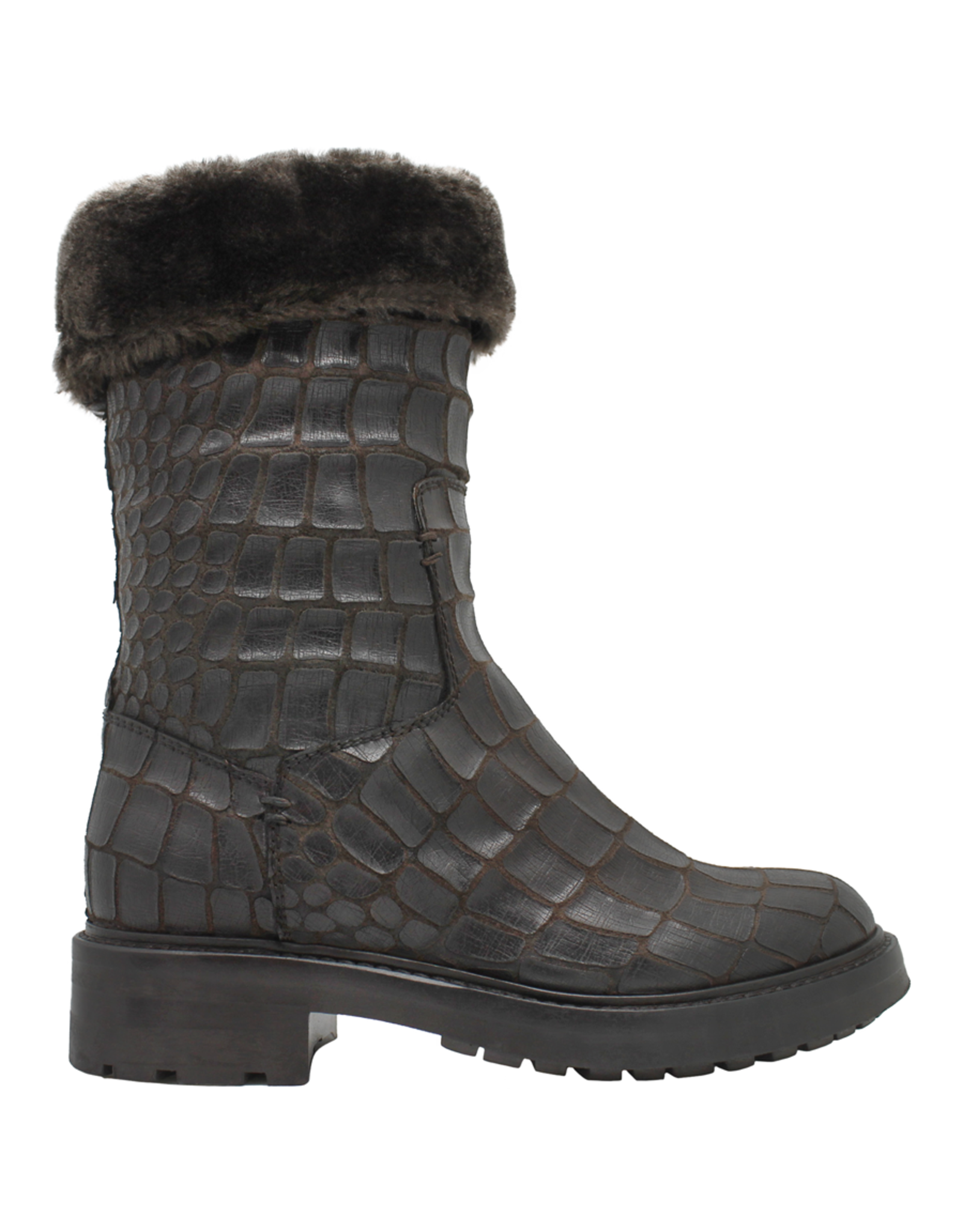 Strategia Strategia Brown Gator Fur Lined Pull-On Tread Sole 4195