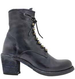 Officine Creative OfficineCreative Navy Lace-Up Ankle Boot W/Zipper Agnes