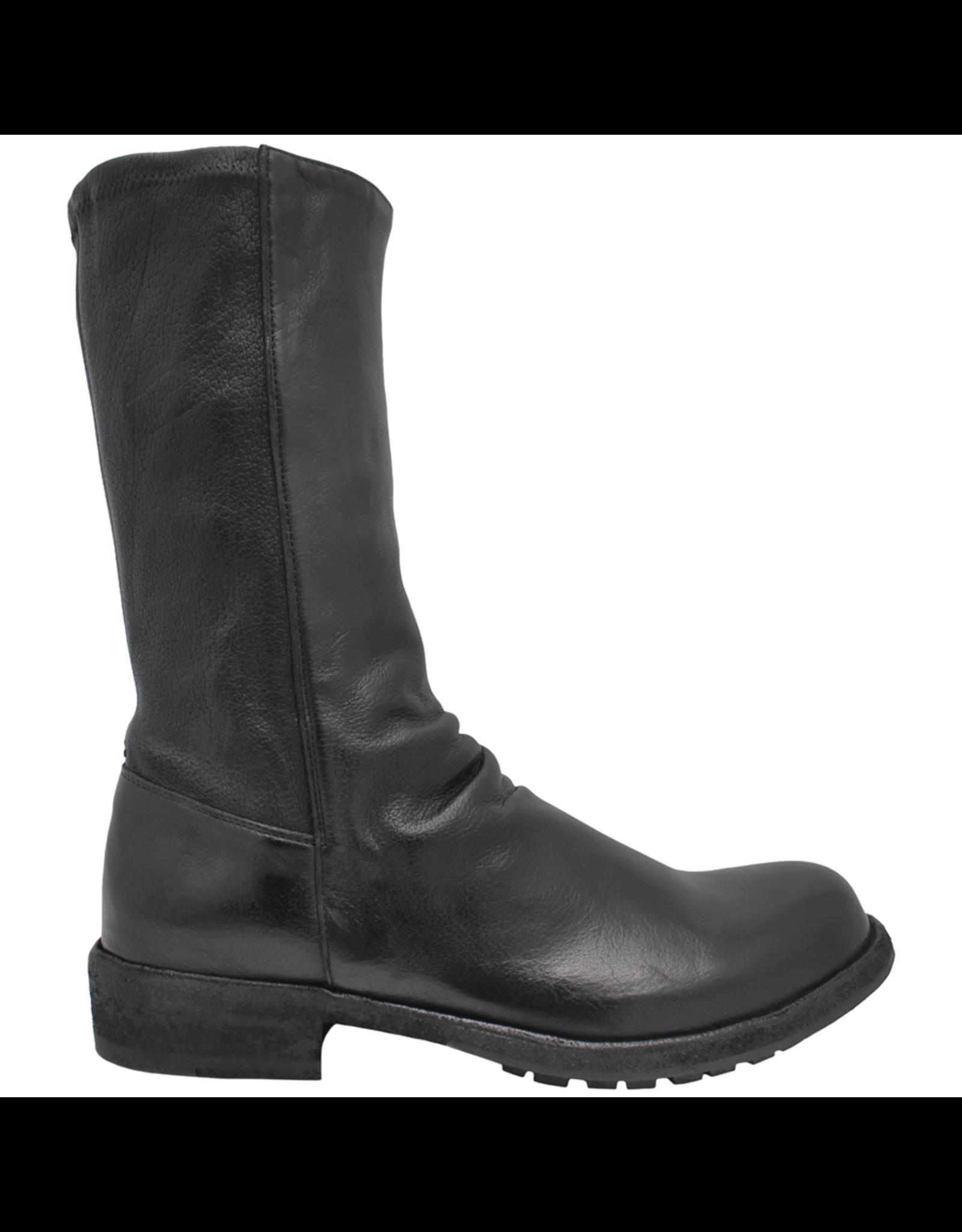 Officine Creative OfficineCreative Black Flat Mid-Calf Boot Legrand