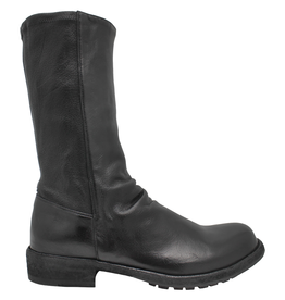 Officine Creative OfficineCreative Black Flat Mid-Calf Boot Legrand