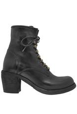 Officine Creative OfficineCreative Black Lace-Up Ankle Boot W/Zipper Agnes