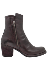 Officine Creative OfficineCreative Wine Double Zipper Calf Ankle Boot Ariel