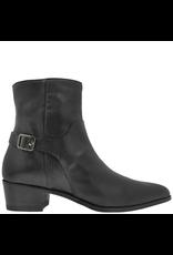 Ink Black Buckled Side Zip Ankle Boot 3030