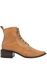Ink Camel Ankle Boot With Laces And Side Zip 3320