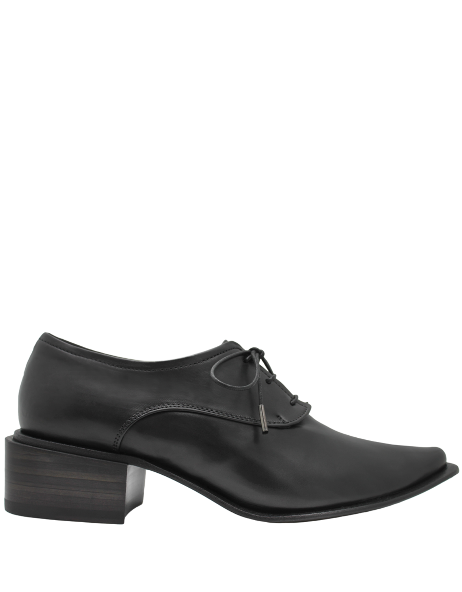 Ink Black Soft Nappa Lace-Up Point Toe Shoe 3330