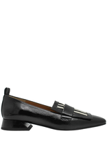 ModadiFausto ModadiFausto Black Patent Square Toe Loafer 6347