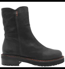 Everybody Everybody Black Side Zipper Mid-Calf Boot 9715