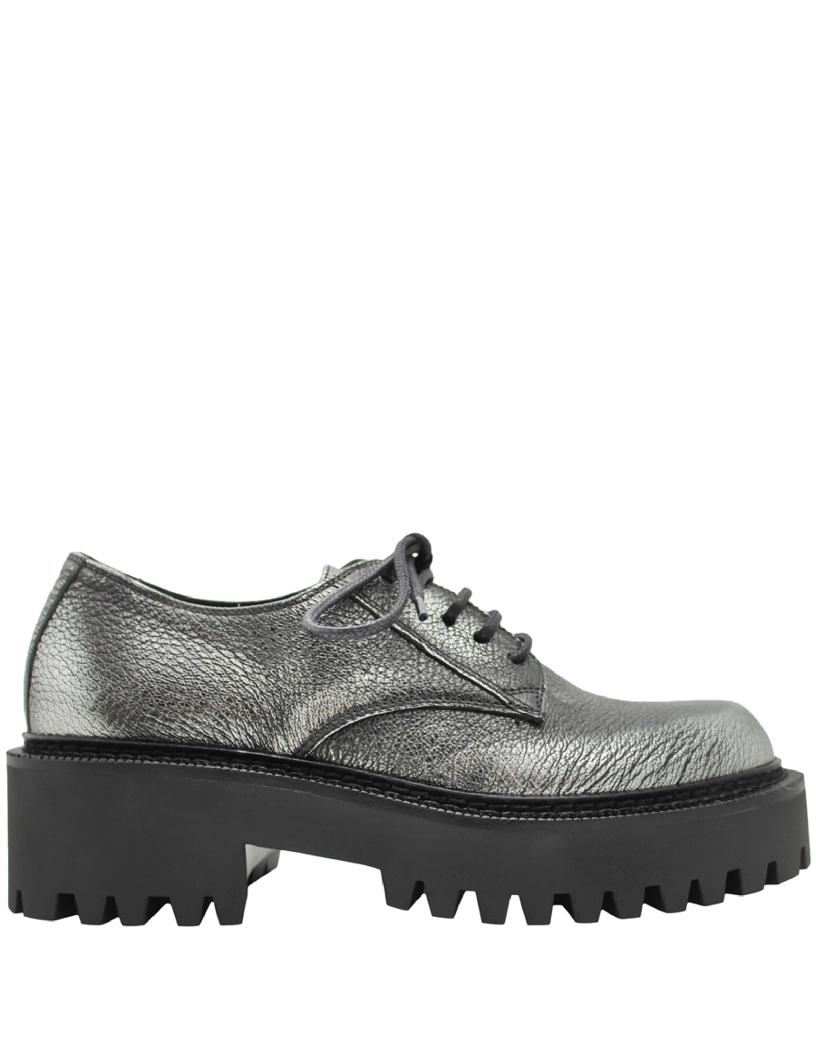 VicMatie VicMatie Silver Grain Leather Derby With Rubber Tread 5150