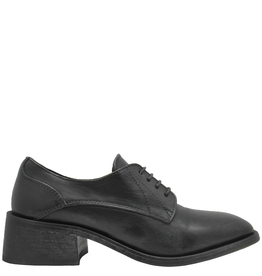 Moma Moma Black Square Toe Lace-Up Shoe 9810