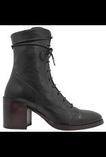 Fiorentini+Baker Fiorentini+Baker Black Lace-Up Wine Block Heel Side Zipper Corb