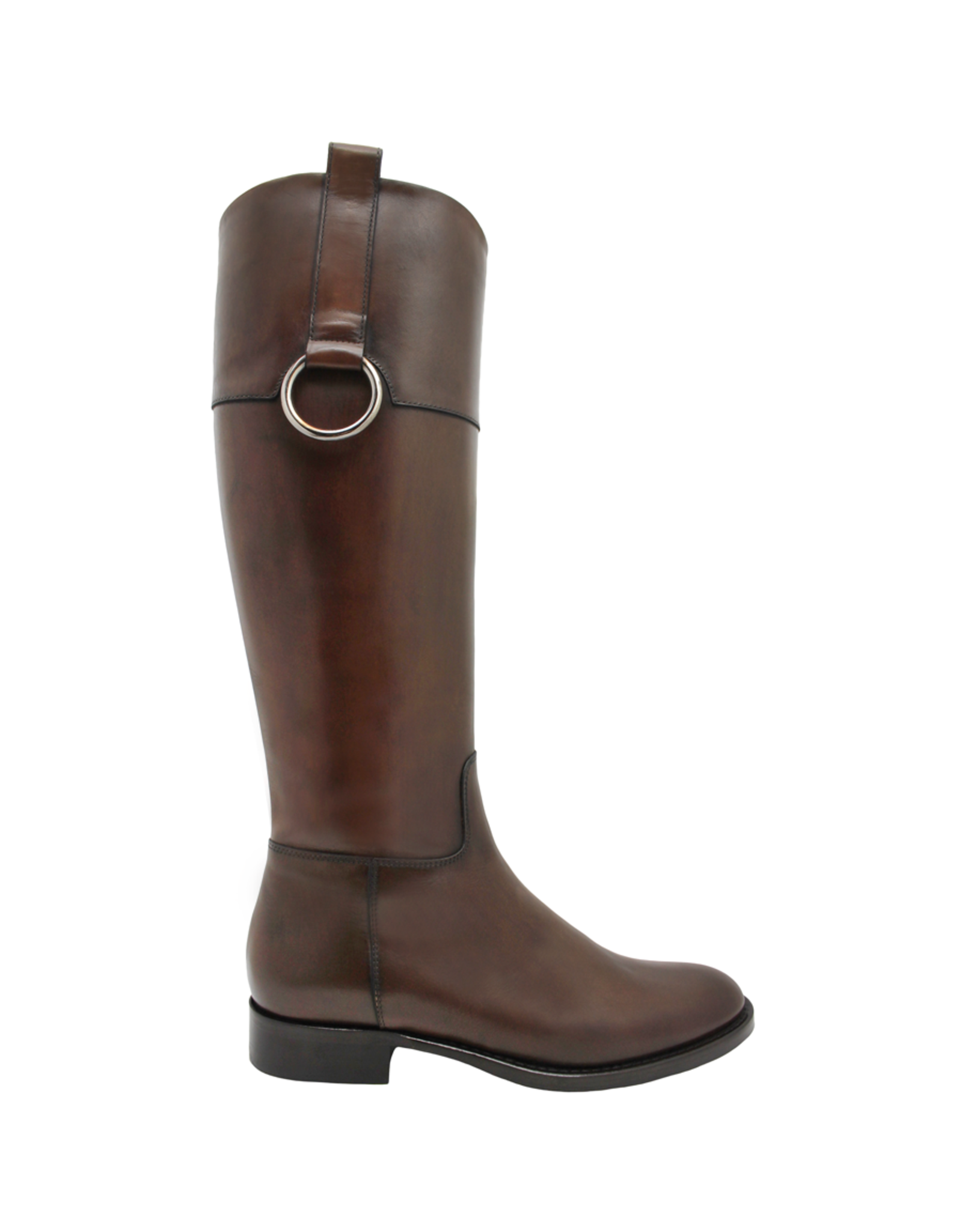 Eclat Eclat Whiskey Riding Boot W/ Ring Detail+ Full Inside Zipper 7603