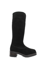 PalmrothOriginal PalmrothOriginal Black Suede Knee High WaterProof Shearling 8411