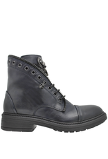 Now Now Navy Pull On Boot With Jewel And Zipper Detail 6468