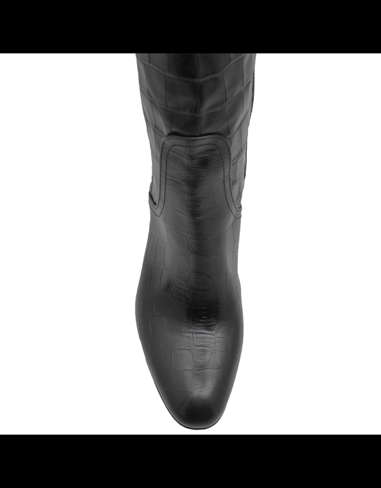 Strategia Strategia Black Croco Over The Knee Boot 4600