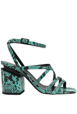 VicMatie VicMatie Turquoise Snake Strappy Sandal 8604