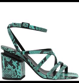VicMatie VicMatie Turquoise Snake Strappy Sandal 8604