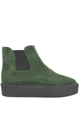 PalmrothOriginal PalmrothOriginal Green Suede Waterproof Chelsea Wedge 8318