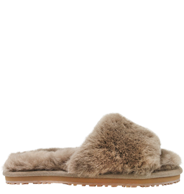 Mou Mou Grey Shearling Slipper Ros