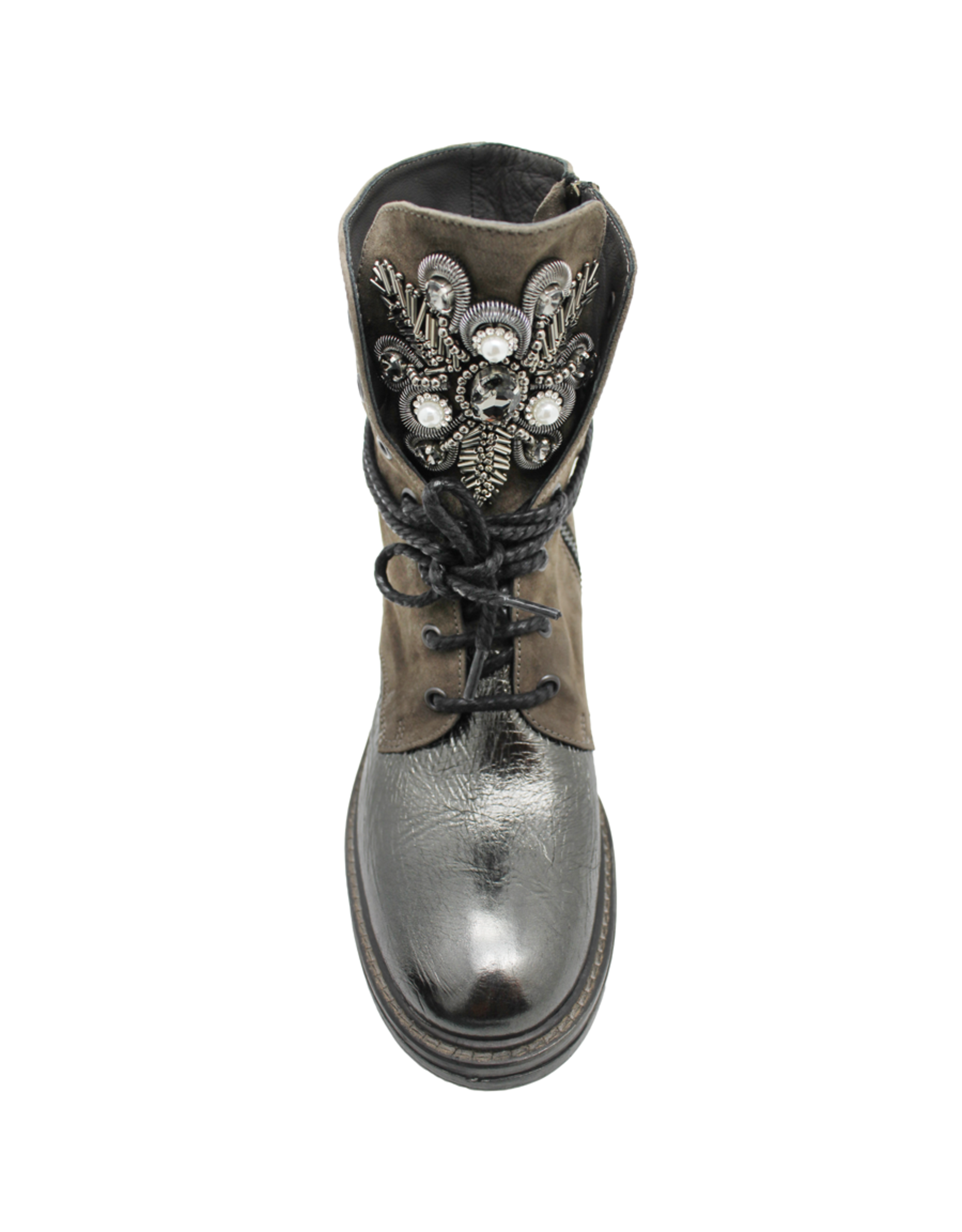 Now Now Taupe Suede +Metal With Jewel Detail 5695