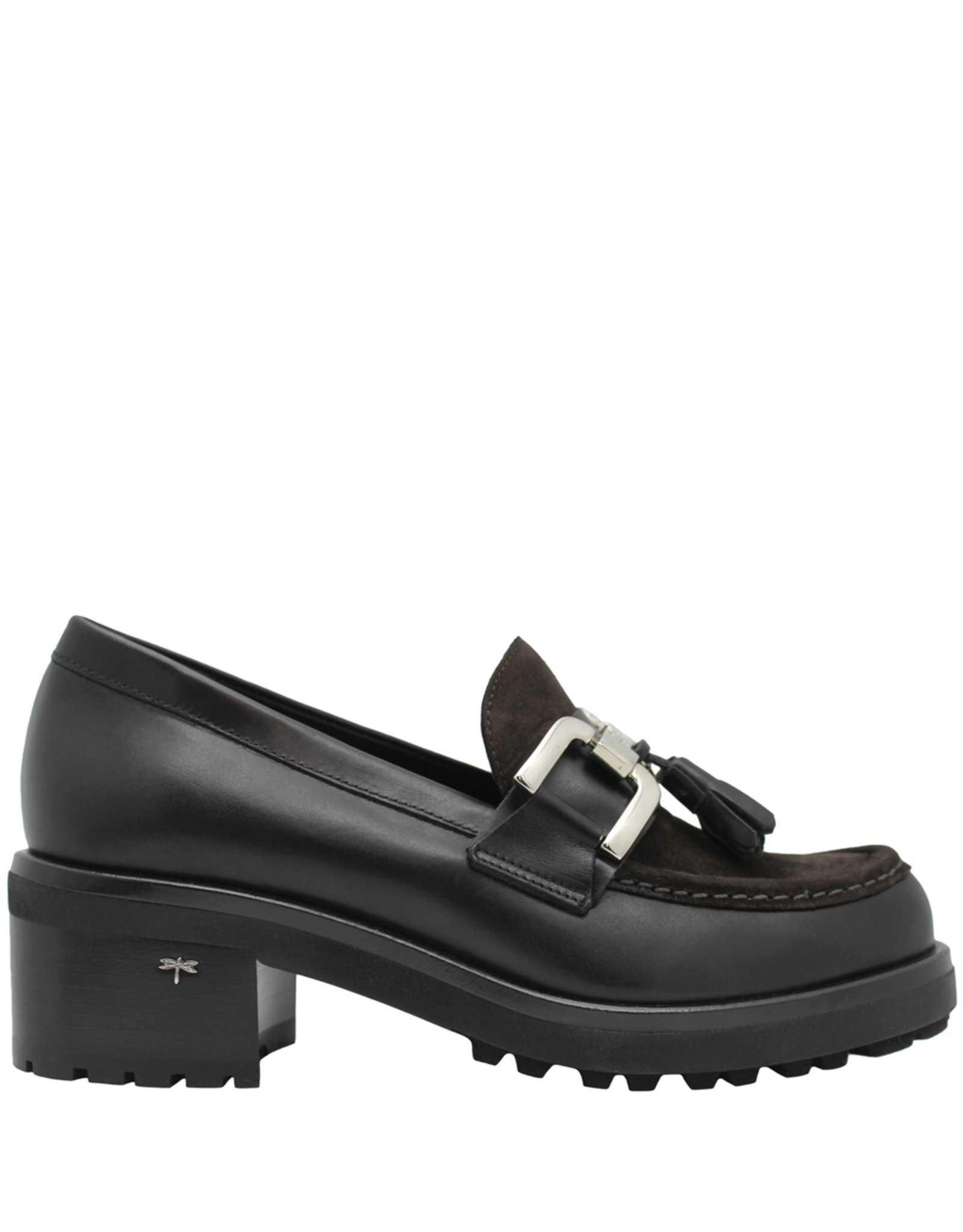 Siton Siton Black With Brown Metal Bit Loafer 1971