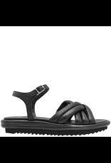 Now Now Black Ankle Strap Criss Cross Sandal-6831
