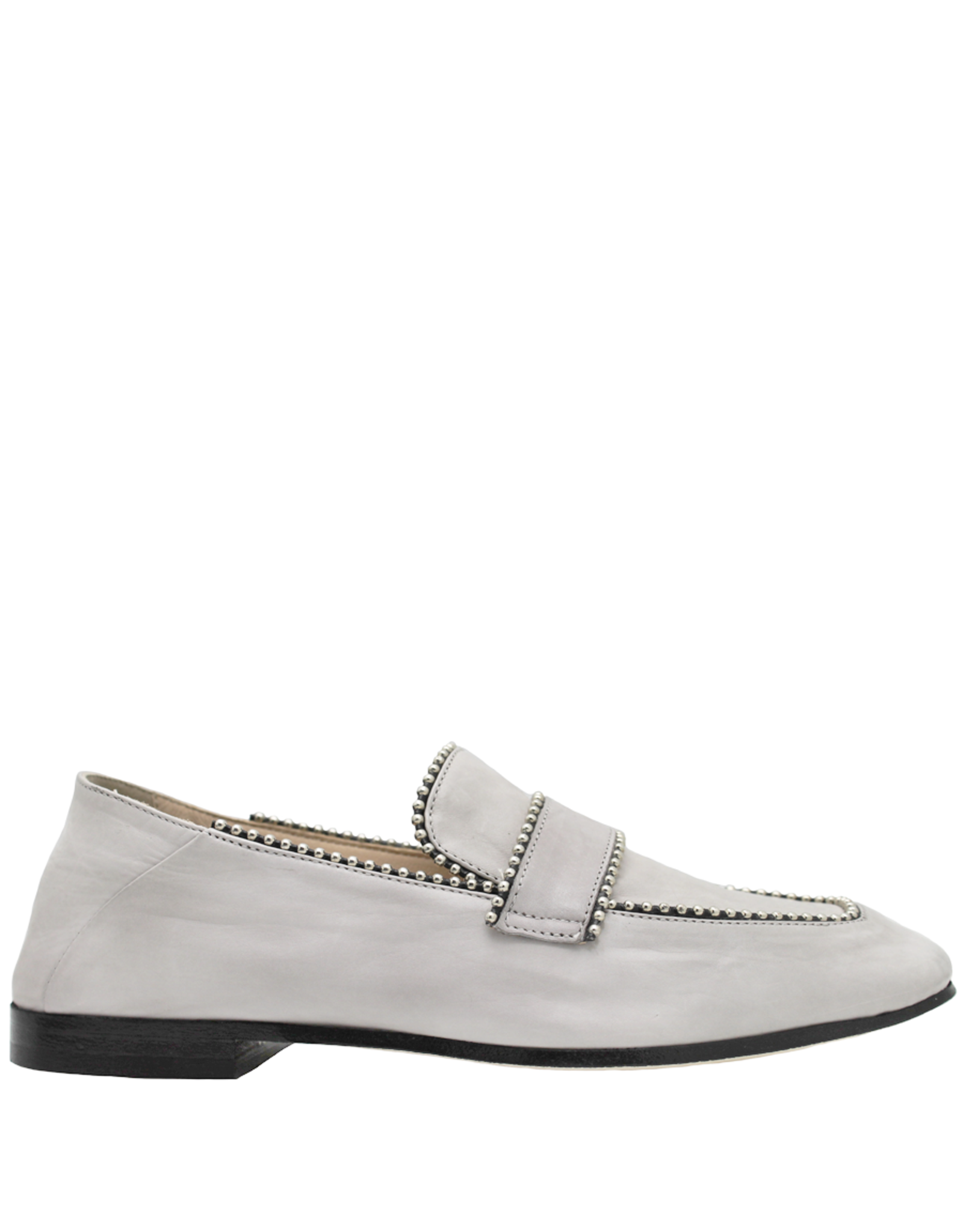 Now Now Grey Loafer With Studs-6947