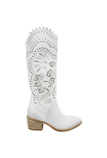 Now Now Gesso Laser Cut Knee Boot-7000
