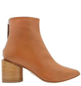 Halmanera Halmanera- Camel Ankle Boot With Back Zipper-2035