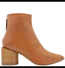 Halmanera Halmanera- Camel Ankle Boot With Back Zipper-2035