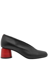 Halmanera Halmanera-Black Red Heel Pump-2037