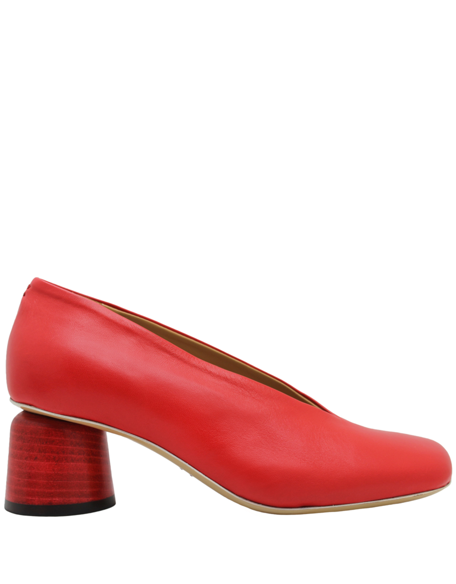 Halmanera Halmanera- Red Square Toe Pump-2037