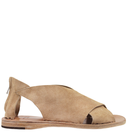 Officine Creative Officine Creative- Milos Tan Suede Criss Cross Suede Sandal