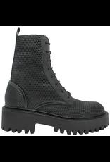 VicMatie VicMatie- Black Perforated Calf Skin Combat Boot 5602