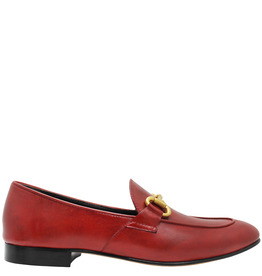 MaraBini MaraBini M5H Red Loafer With Gold Bit 8125