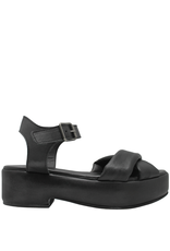 Moma Moma- Black Covered Platform Sandal 2114