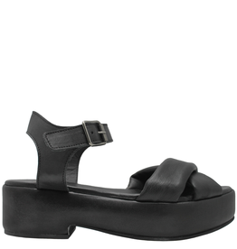 Moma Moma Black Covered Platform Sandal 2114